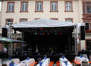 Satteldachbühne 7,7x5m